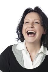 jeune femme riant bonheur