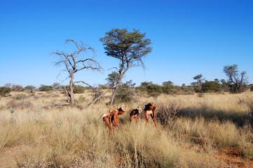 Buschmänner beim Jagdritual