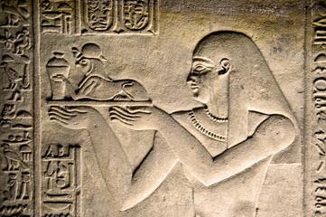 Relief, Tempel, Luxor