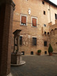 Siena - the courtyard of the Palazzo Chigi-Saracini