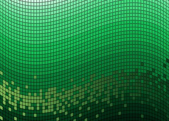 Mosaic green background (vector)