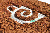 Natural granulated coffee close up on dollars poster