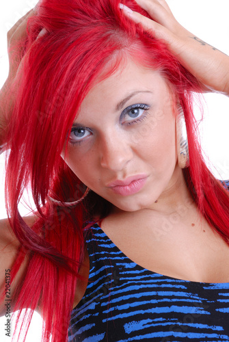 Sexy blue eyes and red hair