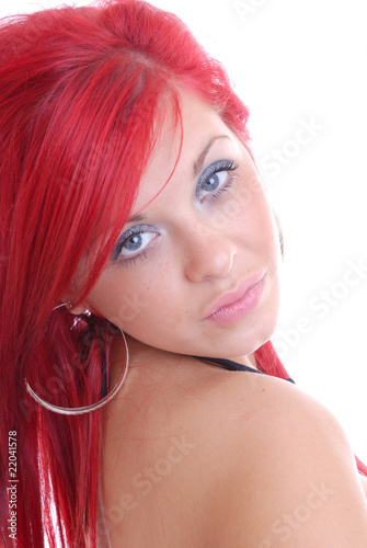 Portrait of red haired beauty