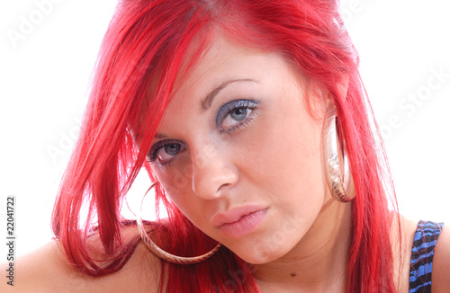 Beautiful cute red haired girl