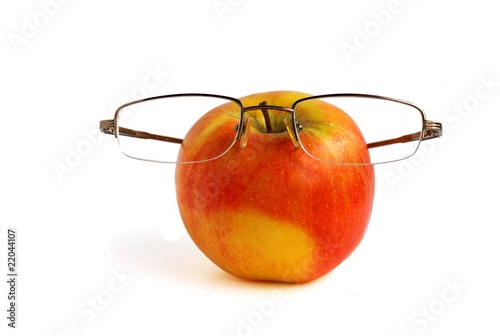 Apple in glasses