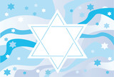 Glad background to the Jewish holiday poster