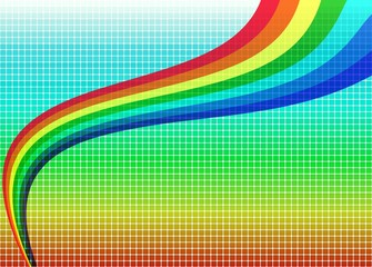 Bright mosaic rainbow background (vector)
