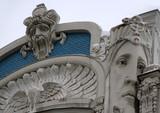 Detali of Art Nouveau on the Building poster