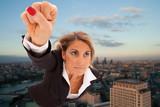 Fototapety Super businesswoman
