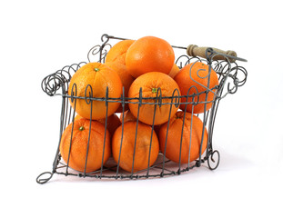 Oranges Old Wire Basket