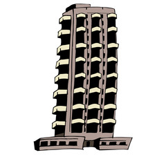 immeuble, vecteur