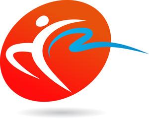 Gymnast icon / logo - 2