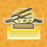 Vector adventures and travel emblem poster