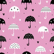 umbrella with love wallpaper design seamless