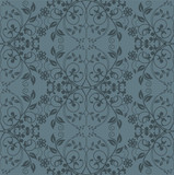 Seamless grey floral wallpaper