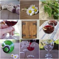 Wino - kolaż