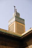 Minaret at Bou Inania Medrese, Fes, Morocco poster