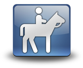 "3D Effect Icon ""Horse Riding"""