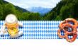 Bayerisches Frühstück in den Bergen