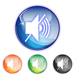 Picto musique son off - Icon music mute - collection color