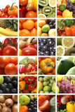 Nutrition collage of many different healthy foods poster