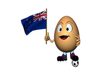 Uovo allegro con bandiera