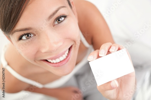 Casual business card woman