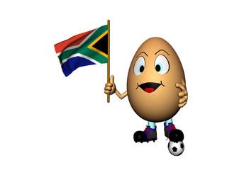 Uovo con abndiera del Sudafrica