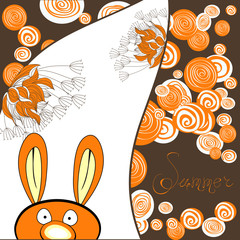 Decorative card with rabbit