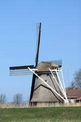traditional dutch windmill