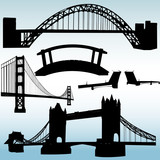 Fototapety bridges collection - vector