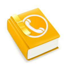 Telephone directory, vector icon