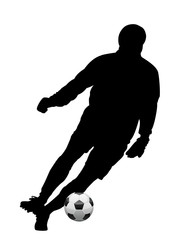 illustration of soccer player and ball
