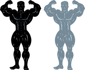 Bodybuilder pose