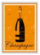 Etiquette de bouteille de Champagne