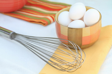 Eggs and Egg Whisk