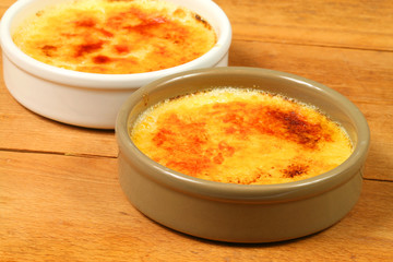 Creme brulee caramelized