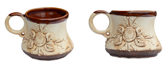 Traditional earthenware cup
