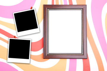 Photo frame with polaroid