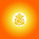 Lord Ganesha on Sun Burst Background poster