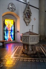 Babtisteriom in the church in Vienna