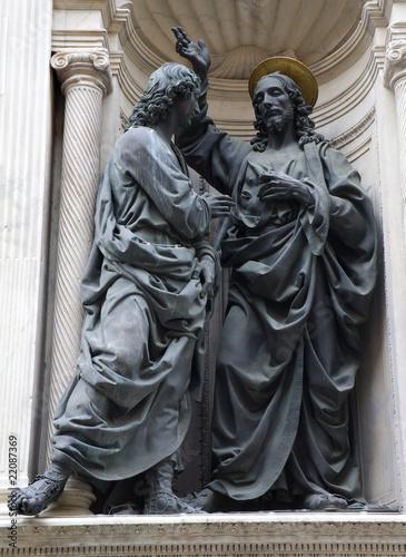 Poster Florence - Christ and apostle Thomas