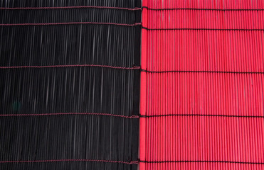 Black and red bamboo textures (as a background)