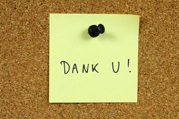 Dutch language - Thank You - Dank U