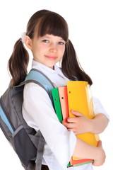 Pretty young schoolgirl