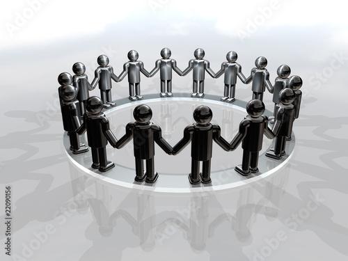 Men holding hands in solidarity