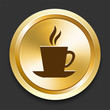 Coffee on Golden Internet Button
