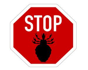 Stopschild für Läuse