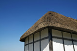 Tudor house with thatched roof
